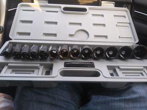 Cummins 14 piece deep well socket set for Sale in Cadott, WI