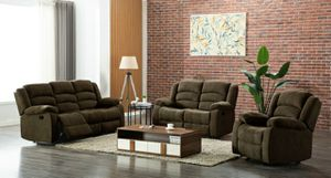 New Chocolate Recliner living room set for Sale in Austin, TX