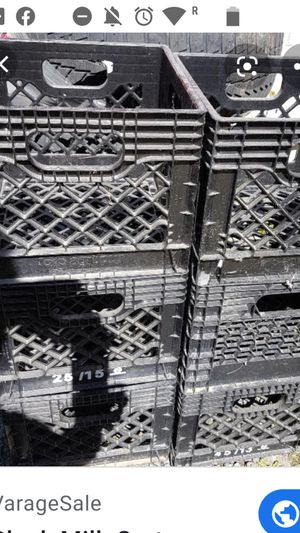 Thick milk crates for Sale in Perris, CA