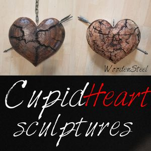 Custom Cupid Heart Sculptures WOODENSTEEL for Sale in Eugene, OR