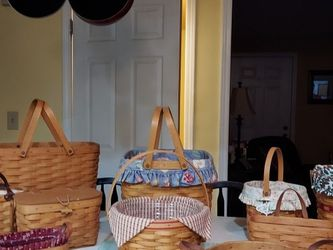 Longaberger. Everything For 100.00. Also Have A Snowman Stand With 2 Baskets for Sale in Woodsboro,  MD