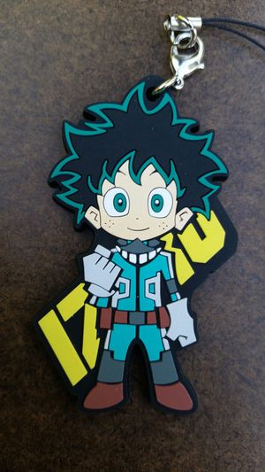 Anime 2017 IZUKU My Hero Academia Rubber Keychain Pendant Phone Key Chain Convention for Sale in Los Angeles, CA