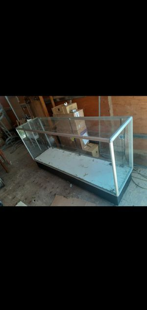 """Glass case showroom with wheels size 70"""" length x20"""" width x40"""" height no shelves delivery available for Sale in San Diego, CA"""