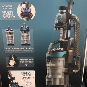 Eureka Floor Elite Vacuum Multi Cyclone System 50% Large Dust Cup Perfect For Pet. Easy empty dust cup, washable Filter soft engine and powerful clea for Sale in La Mesa, CA