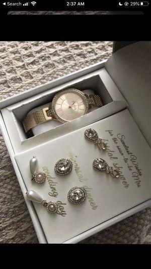 earrings & watch set for Sale in San Bernardino, CA