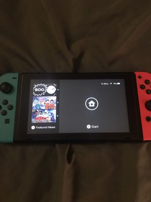 (Great Condition) Nintendo Switch with Neon Blue/Red Joycons for Sale in Austin, TX