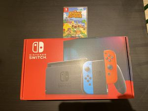 Nintendo Switch Console v2 Neon Joycons Animal Crossing for Sale in Roswell, GA