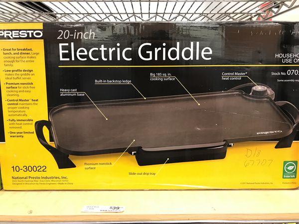 Presto 20 inch electric griddle