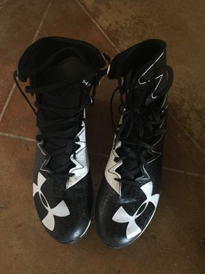 UA highlight RM cleats. Size 12 for Sale for sale  Woodlake, CA