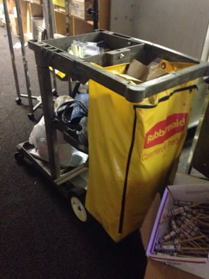 Rubbermaid janitorial cart for Sale in Caledonia, MI
