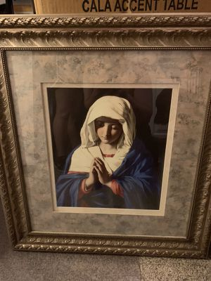 Virgin Mary Art painting frame Jesus rosary Christian for Sale in Tempe, AZ