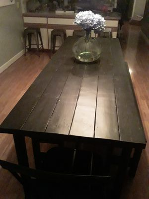 Farm house table with benches for Sale in Vicksburg, MI