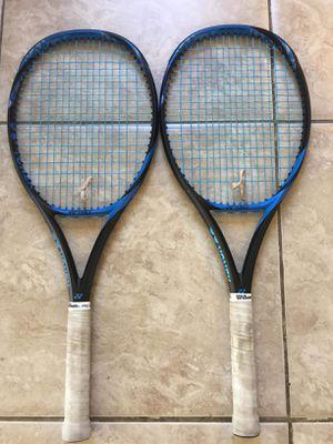 2 New Yonex Ezone 98 grip 1/4 Tennis Rackets for Sale in Anaheim, CA