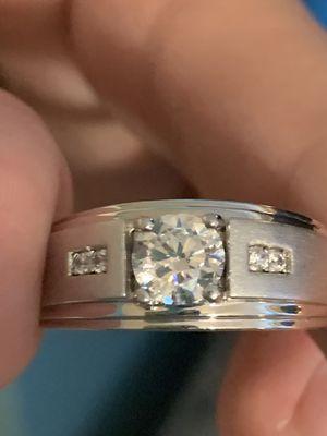 Men's silver ring! Stone is 1CT Swarovski zirconia! for Sale in Vero Beach, FL