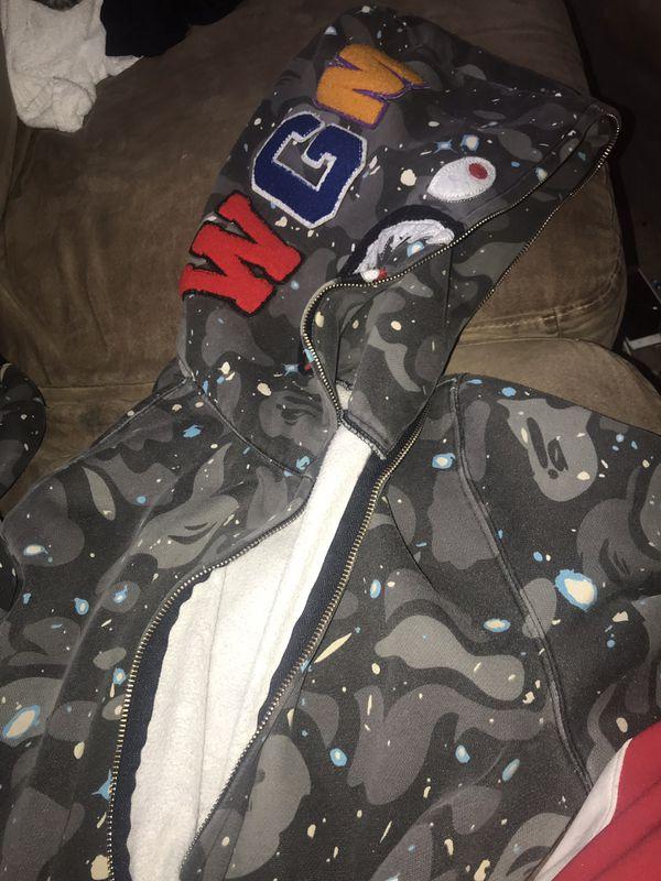 Bape hoodie(glows in the dark)