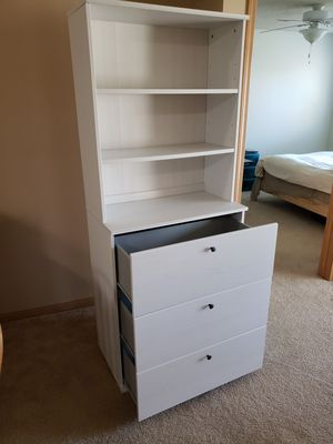 Bookcase with drawers, white ( IKEA like new) for Sale in MINETONKA MLS, MN
