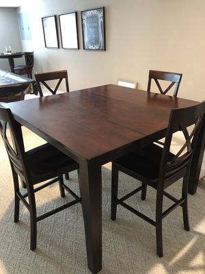 Espresso Dining Table Set Bar Height for Sale in Wildwood, MO