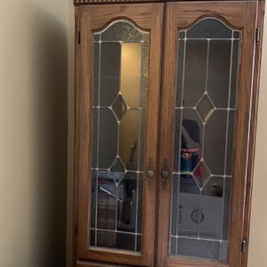 Antique Wood China Cabinet for Sale in Phoenix, AZ