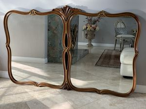 """64""""x40"""" 95 years old (antique), this mirror is very simple and at the same time is beautiful and unique , the frame has gold trim for Sale in Laguna Niguel, CA"""
