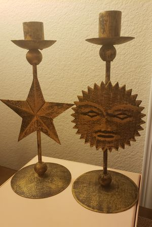 Sun and Star Celestial Candle Holder Set for Sale in Gilbert, AZ