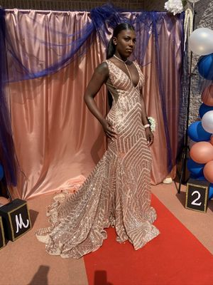 Rose gold prom dress for Sale in Ewing Township, NJ