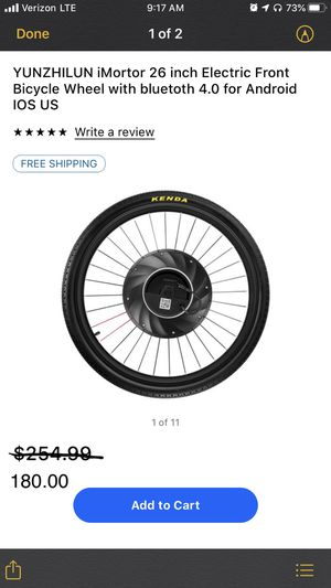 Electric front bicycle wheel for Sale in Miami, FL