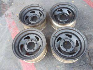 15x7 steel wheels. 5 on 5.5 lugs, Dodge, Ford, Jeep, Samurai, Tracker for Sale in Montebello, CA