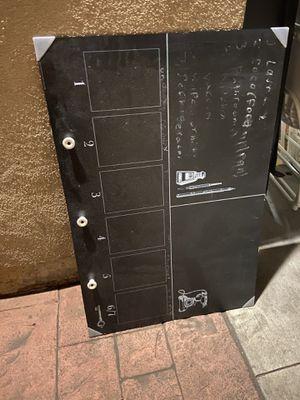 Chalk board with hooks for Sale in San Gabriel, CA