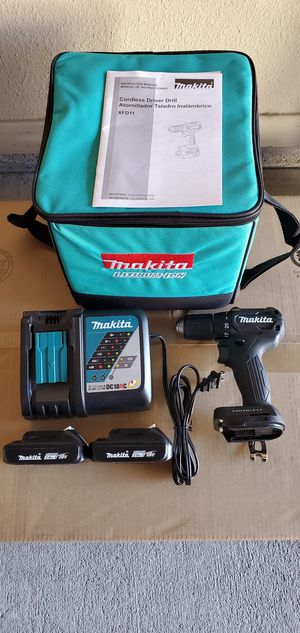 Makita 18-Volt LXT Lithium-Ion Sub-Compact Brushless Cordless Drill/Driver, (2)2.0Ah batteries, fast charger and bag for Sale in Humble, TX