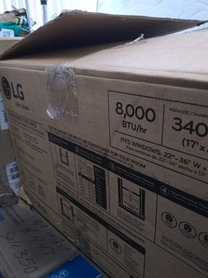 "LG Window Air Conditioner 8,000BTU Window 22"" x36""Wx13 "" Room Size 17'x20' Open Box$220 for Sale in Paramount, CA"