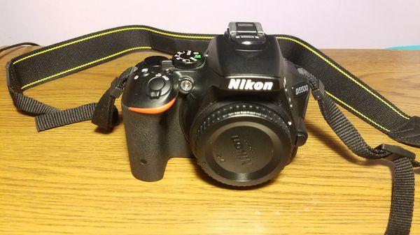 Nikon D D5500 24.2MP Digital SLR Camera - Black (Kit w/ VR II 18-55mm Lens)