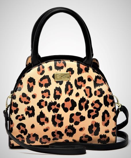 ** NEW BETSEY JOHNSON LEOPARD PRINT PURSE * WRISTLET * MSRP $58 * CROSSBODY * TRAVEL * CLOTHES * TEEN * JEANS * KIDS * CLOTHES * PLAY * FUN * DATE *