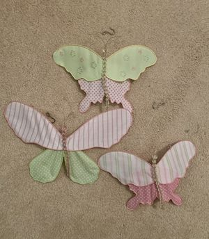 Pottery Barn Kids hanging butterfly decor for Sale in West Chester, PA