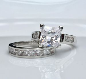 925 silver filled wedding engagement ring band set size 6,7,8,9,10 available extremely gorgeous! for Sale in Silver Spring, MD