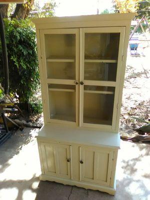 Tan beige color China Cabinet $75 for Sale in San Antonio, TX