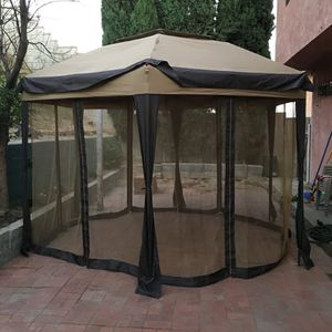 NEW Outdoor Cover Brown Tent with side wall windows for Wedding Party Patio Gazebo canopy Camping for Sale in Las Vegas, NV