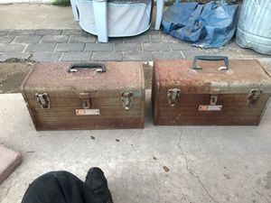 2 old craftsman metal tool boxes. for Sale in Phoenix, AZ
