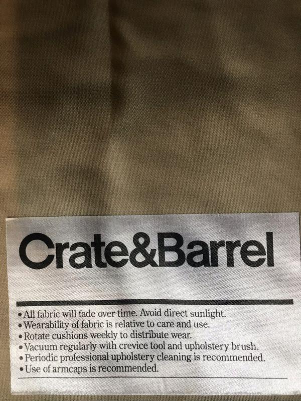 Crate & Barrel sofa love seat