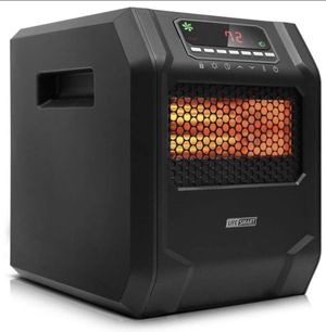 LIFE SMART 6 Quartz Elements Infrared Space Heater with LED Digital Display Screen, Fast Heating with Remote Control and Timer, Thermostat control sy for Sale in Alta Loma, CA