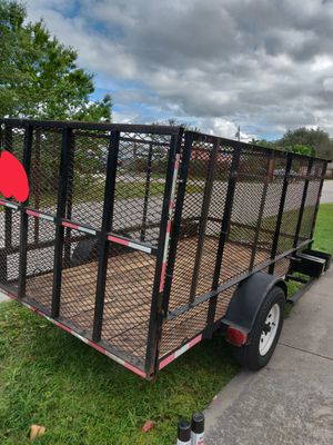 Utility trailer 5 x 10 with 4 ft sides for Sale in Jupiter, FL