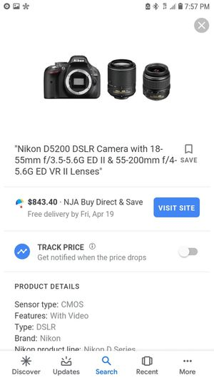 Used nikon camera with Automatic focus lens for Sale in Salt Lake City, UT