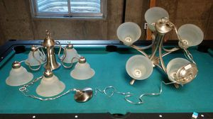 2 Light Fixtures Chandeliers w 5 Lights $50 each for Sale in Aurora, CO