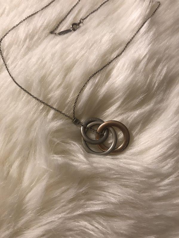 Authentic Tiffany&Co interlocking circles pendant