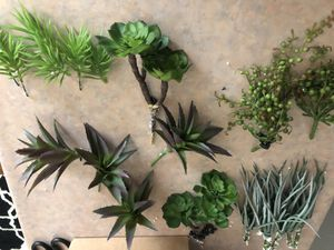 12 pieces assorted faux succulents for Sale in Anaheim, CA