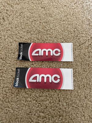 2 AMC Black Ticket Movie passes for Sale in Irvine, CA