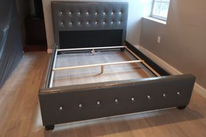$289 gray Queen bed frame brand new free delivery same day for Sale in Miramar, FL