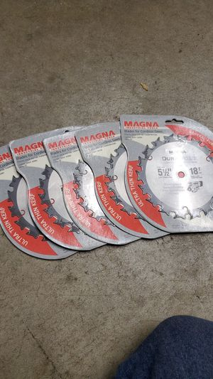 """Magna ultra thin kerf 5 1/2"""" 18tooth saw blade for Sale in Joliet, IL"""