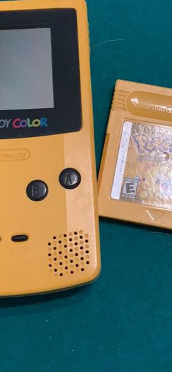 Yellow Game Boy Color With Pokémon Yellow for Sale in Katy,  TX