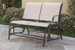 Outdoor loveseat glider on sale only at elegant Furniture 🎈📦 for Sale in Fresno, CA