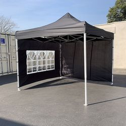 New $140 Heavy Duty 10x10 ft EZ Popup Canopy Outdoor Gazebo with 4 Sidewall, Carry Bag for Sale in El Monte,  CA